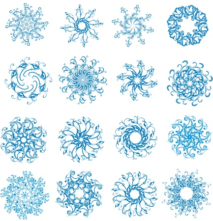 Set of blue vector snowflakes Stock Vector - 16468246