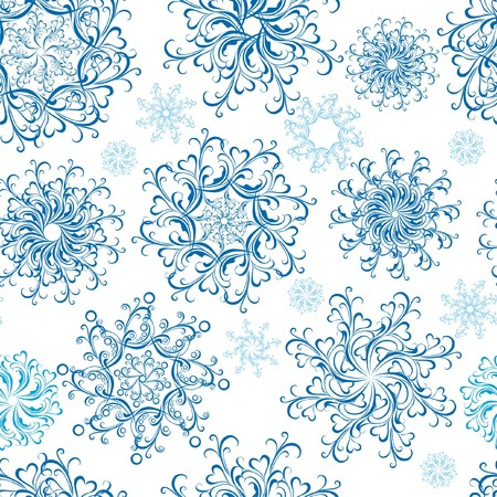 Christmas Seamless snowflakes background Stock Vector - 16468238