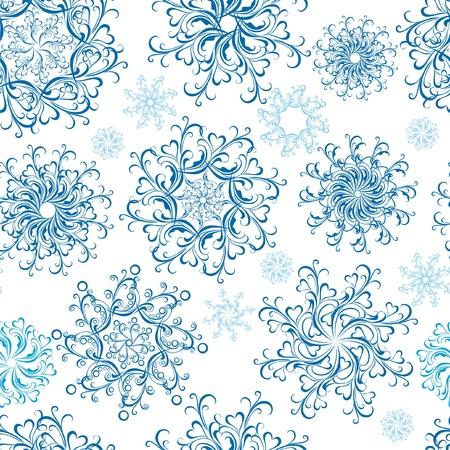 Christmas Seamless snowflakes background Stock Vector - 16468238