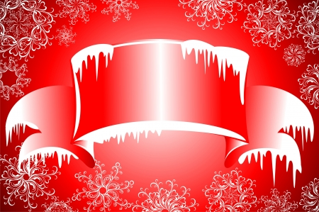 Winter banners with icicles Stock Vector - 16468237