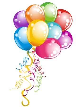 Bunch balloons Stock Illustratie