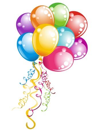verjaardag ballonen: Bunch ballonnen Stock Illustratie