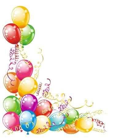 verjaardag ballonen: Uitnodiging kaart voor verjaardagen Ballonnen ontwerp Stock Illustratie
