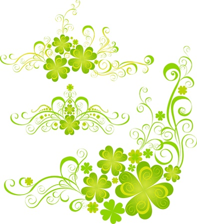 Shamrock for St Patrick s Day  Vector St  Patrick s elements Stock Vector - 16543536
