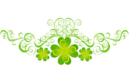 st patrick s day: Shamrock for St Patrick s Day  Vector St  Patrick s elements