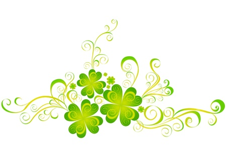 Shamrock for St Patrick s Day  Vector St  Patrick s elements Stock Vector - 16543527