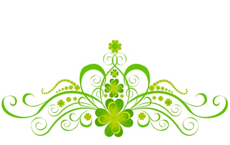 Shamrock for St Patrick s Day  Vector St  Patrick s elements Stock Vector - 16543543