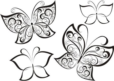 springtime flowers: Butterfly