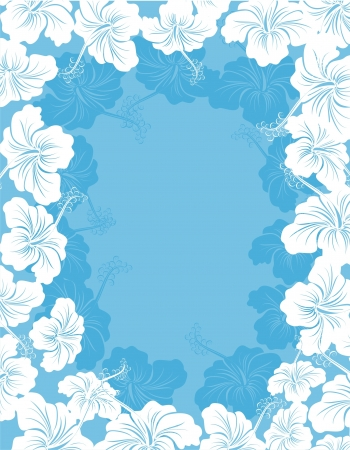 hawaiian: Hibiscus flower frame
