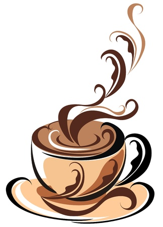 Aroma Coffee cup Vector