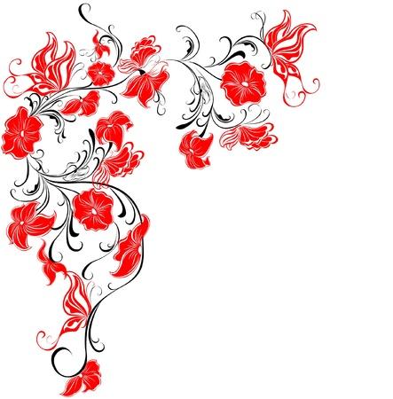 floral elements: Decorative floral frame, element for design