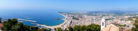 Panorama landscape of Blanes in summertime. Costa Brava, Spain Stock Photo