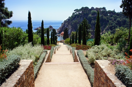 Botanic garden in Blanes, Catalonia, Spain photo