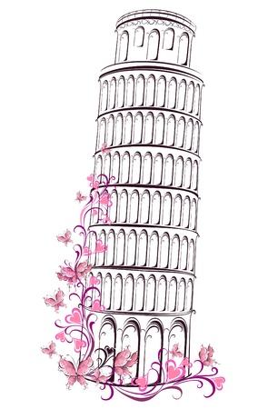 Pisa tower, Italy Stock Vector - 16802010