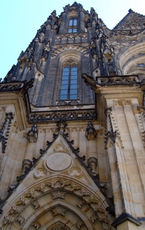 neogothic: St  Vitus gothic cathedral in Prague, Czech Republic