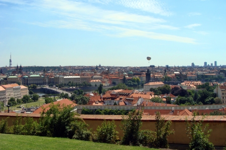 Panoramatic view of the Prague photo