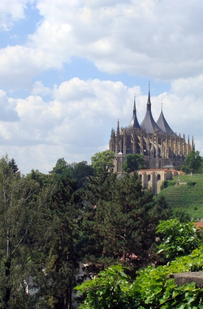 Church of St  Barbara in Kutna Hora, Czech Republic photo