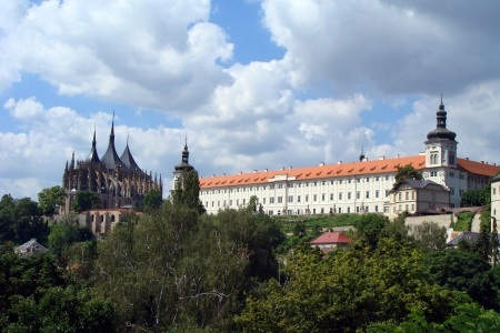 Church of St  Barbara and Jesuit College in Kutna Hora, Czech Republic  photo
