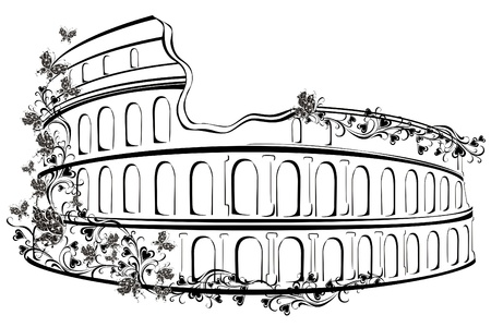 Colosseum in Rome, Italy Vector