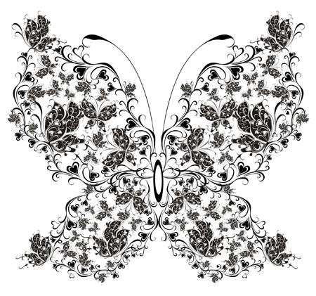 Floral butterfly Stock Vector - 16947843