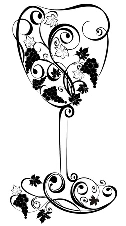 Stylized wine glass Vector