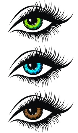 eye closeup: Beautiful woman Illustration