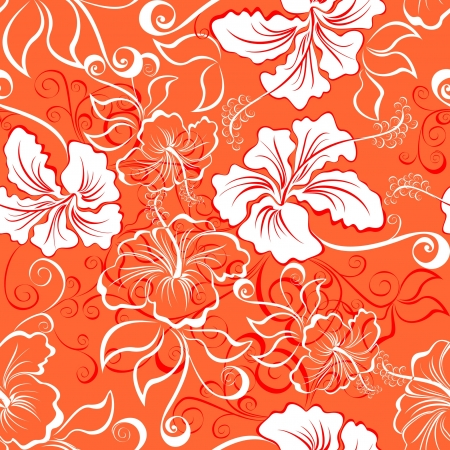 fabric swatch: Seamless hawaiian pattern wallpaper