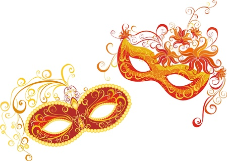 humor mask: Masks for a masquerade  Vector party mask