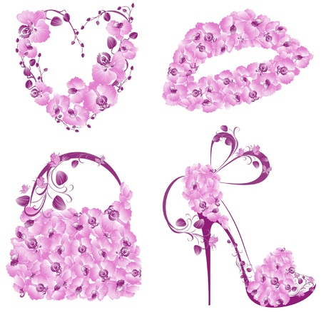 group pattern: Fashion women accessories collection