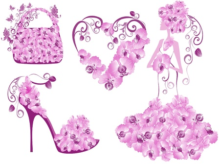 Fashion women accessories collection Vector
