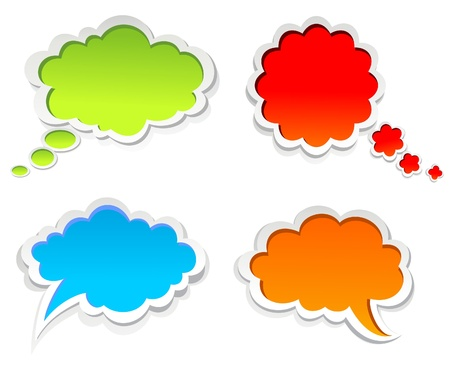 communicate  isolated: Vector colorful speech bubbles