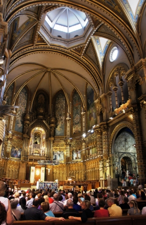 montserrat: Montserrat, SPAIN - MAY 30: Choir boys in Basilica of Montserrat on May 31,2012 Editorial