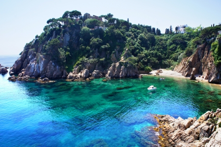Costa Brava landscape  Blanes, Catalonia, Spain photo