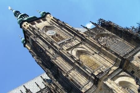 vitus: Tower of St. Vitus Cathedral in Prague