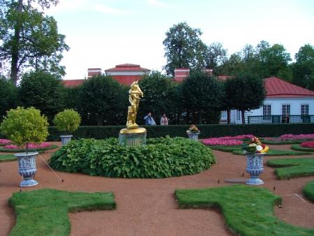 peterhof: Garden of Monplaisir palace. Peterhof. Editorial