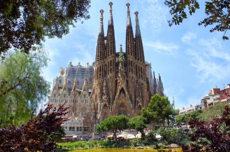barcelone: La Sagrada Familia à Barcelone, conçu par Antoni Gaudi