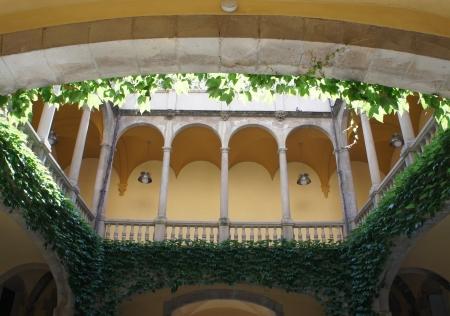 Balcony in Barri Gotic Quarte in Barcelona, Spain