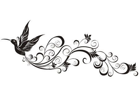 Vector tattoo hummingbird  Stock Vector - 20225663