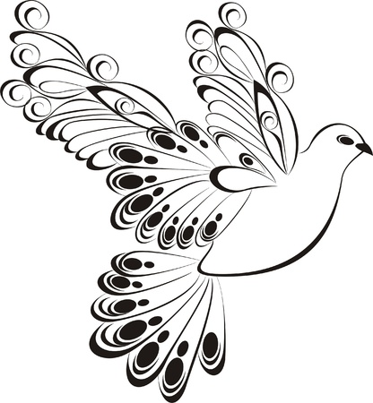 Fliegende Taube Vektorgrafik