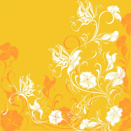 Floral pattern with butterfly Vector