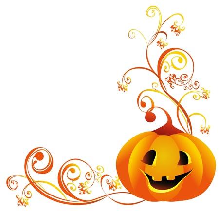 calabazas de halloween: Calabaza de Halloween Jack-o-lantern Vectores