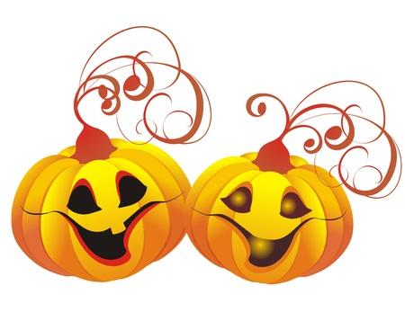 jack o lantern: Vector halloween pumpkin  Jack-o-lantern Illustration