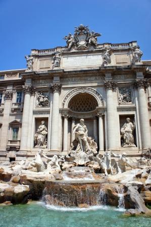 fontana: Trevi Fountain in Rome, Italy  Stock Photo