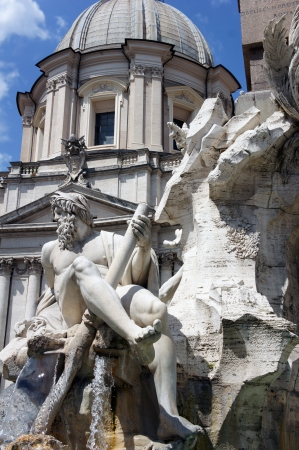 Fountain of the Four Rivers  Piazza Navona, Rome, Italy      photo