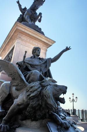 Equestrian monument to Victor Emmanuel II on the Riva Degli Schiavoni in Venice, Italy photo