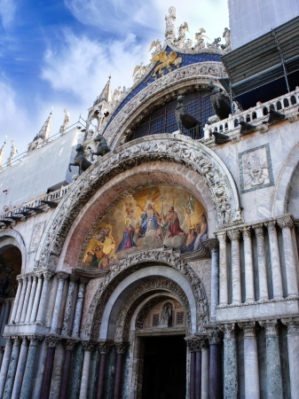 st mark's square: Basilica of St Mark is cathedral church of Roman Catholic Archdiocese of Venice  Piazza San Marco, Venice, Italy  Stock Photo