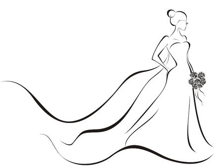 웨딩 드레스의 신부