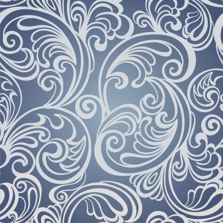 royal blue background: Seamless floral pattern  Vintage background