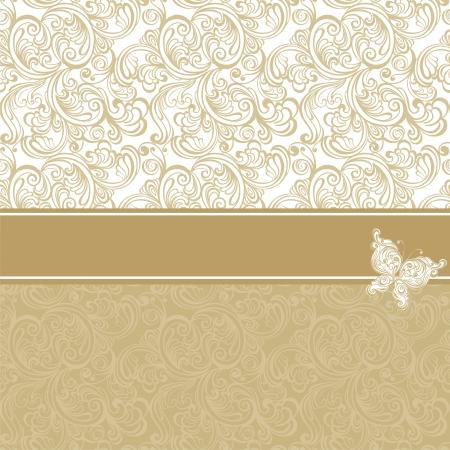 cartoline vittoriane: Vintage sfondo con motivo floreale