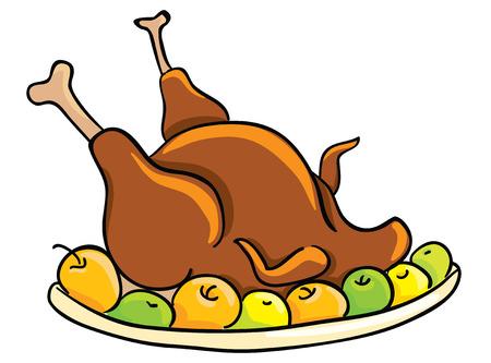 Thanksgiving day, roasted turkey